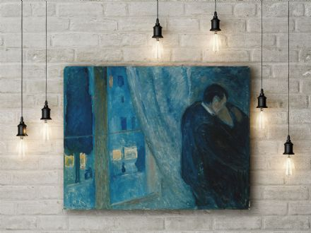 Edvard Munch: Kiss by the Window. Fine Art Canvas.